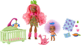 Mattel GNL92 Cave Club Wilder Babysittingspaß 2er-Pack Puppen und Spielset