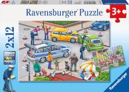 Ravensburger 07578 Puzzle Mit Blaulicht unterwegs 2 x 12 Teile