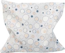 Traubenkern-Kissen 12x12 cm, Kreise hellblau